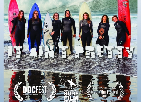 A film about women who surf in wetsuits