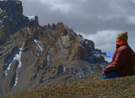 Meditation in the high Mountains